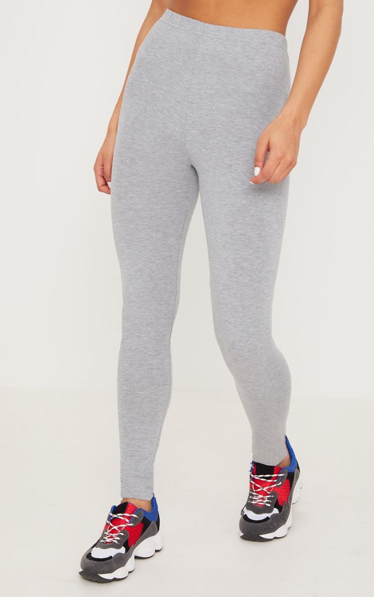 Black and Grey Basic Jersey Legging 2 Pack 5