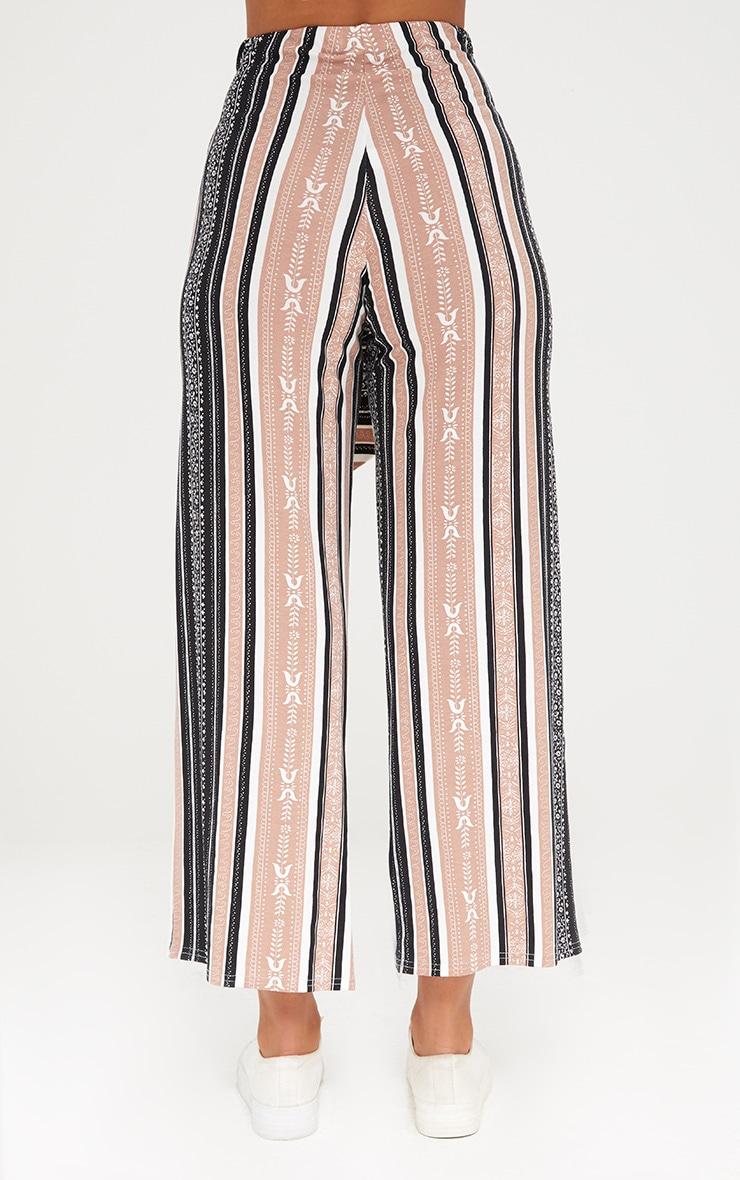 Camel Printed Stripe Longline Culottes 3