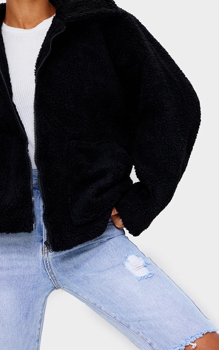 Black Borg Zip Up Oversized Jacket 4
