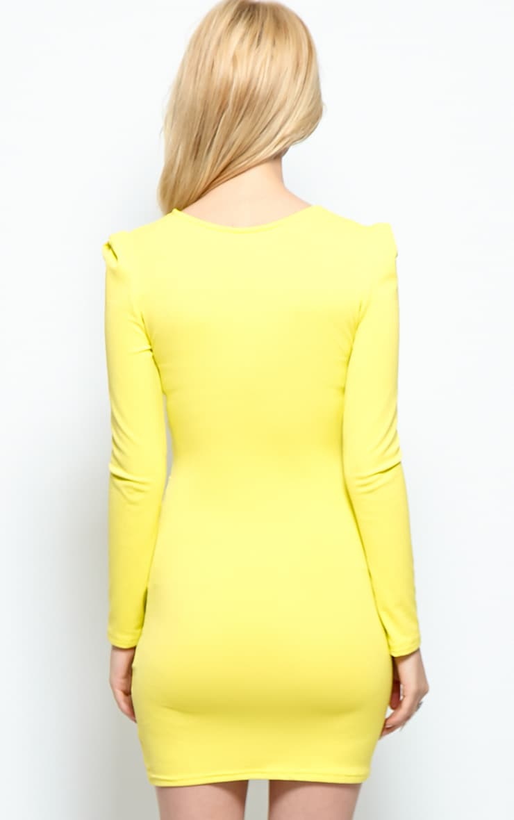 Mina Lime Crossover Bodycon Dress 2
