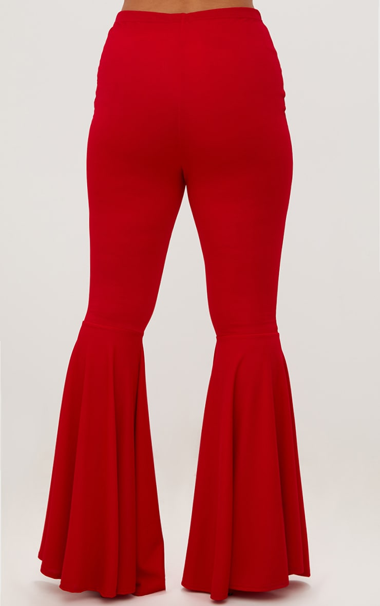 Plus Red Fit and Flare Leg Trousers 4