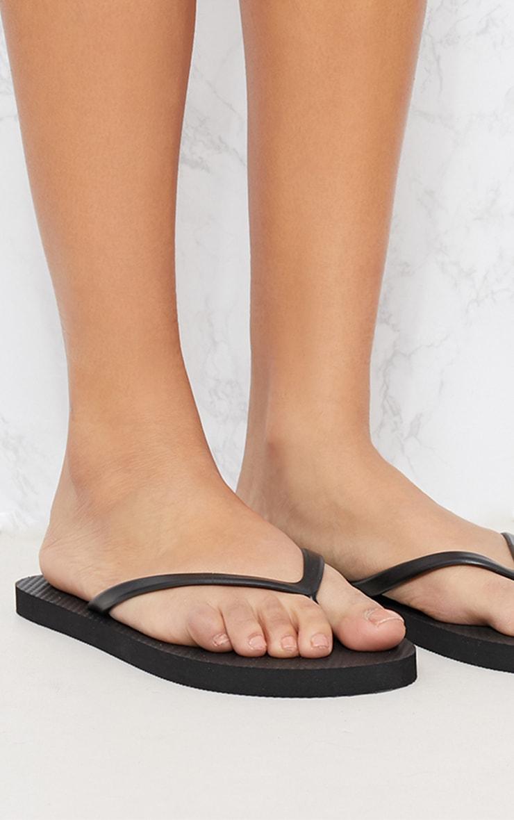 Black & White Flip Flops 2 Pack 2