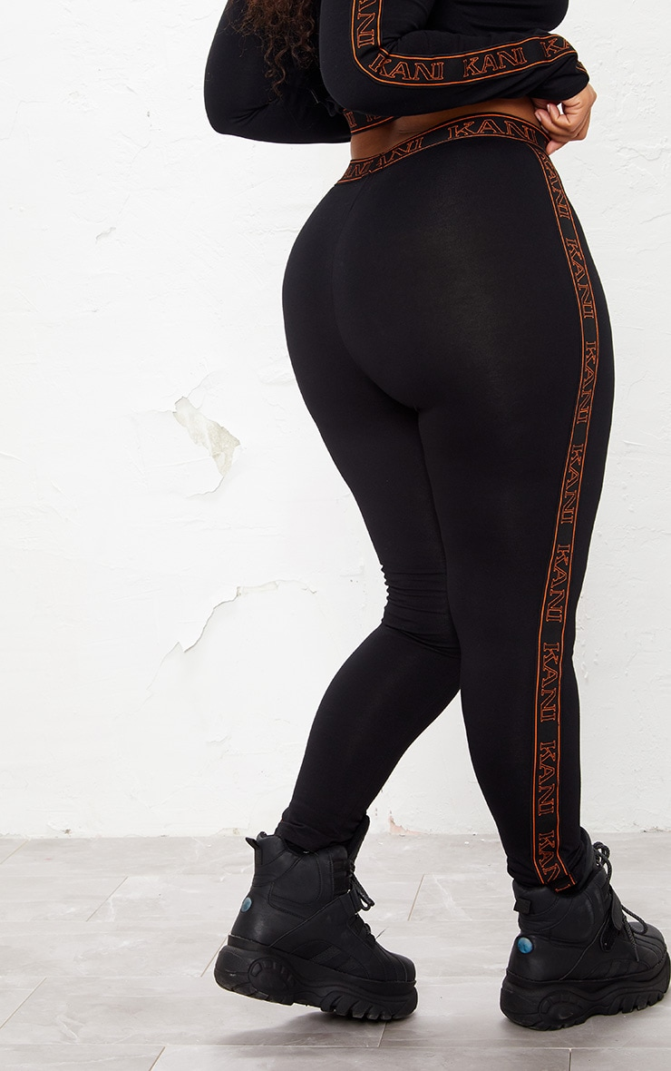 KARL KANI Black Tape Leggings 6