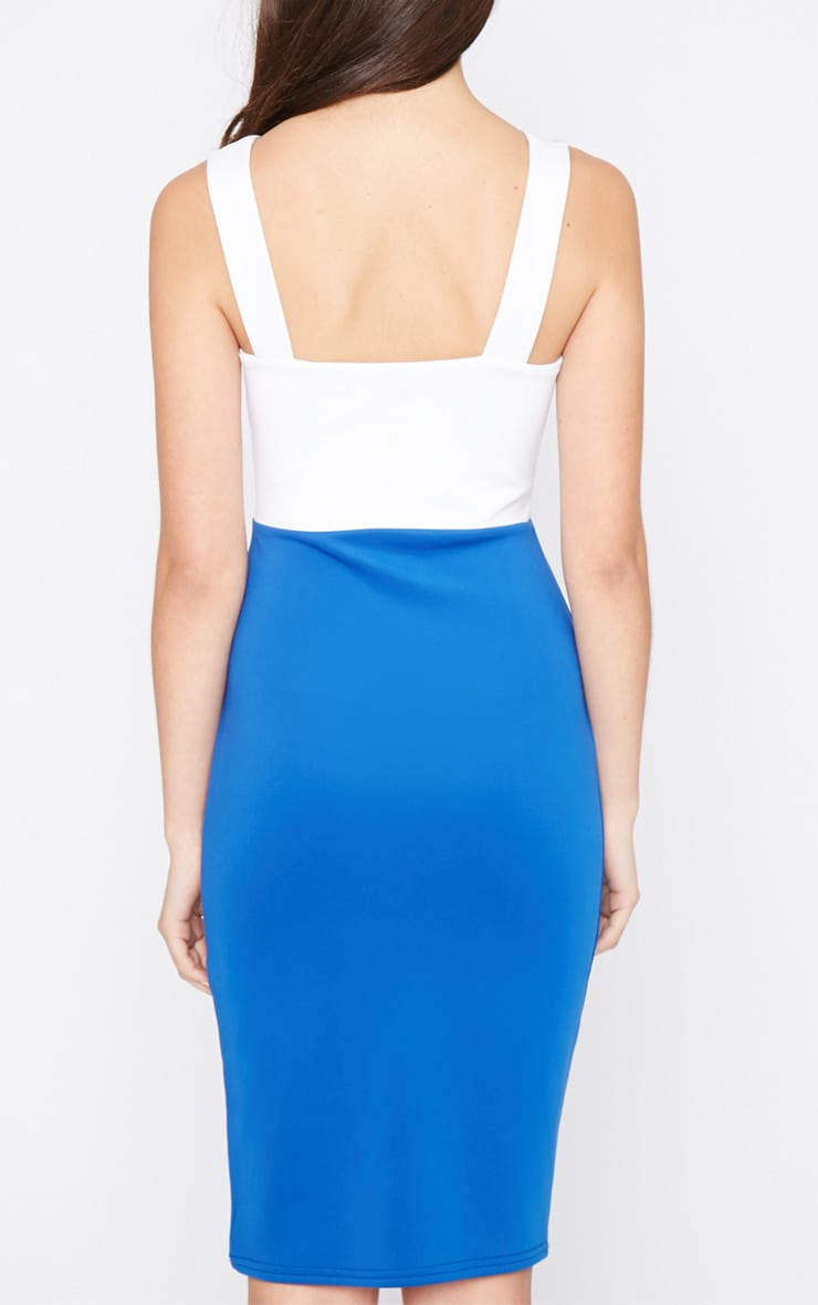 Adella Cobalt Bodycon Panel Dress 2
