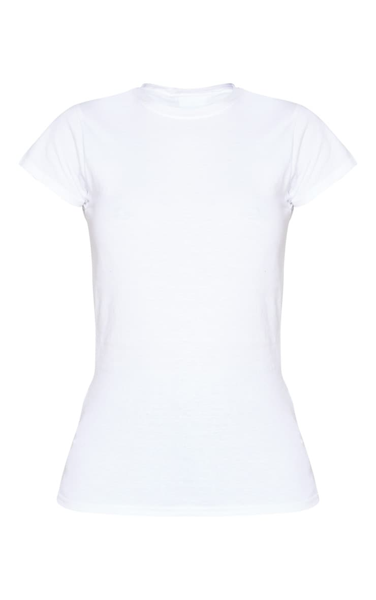 White Fitted T Shirt 5