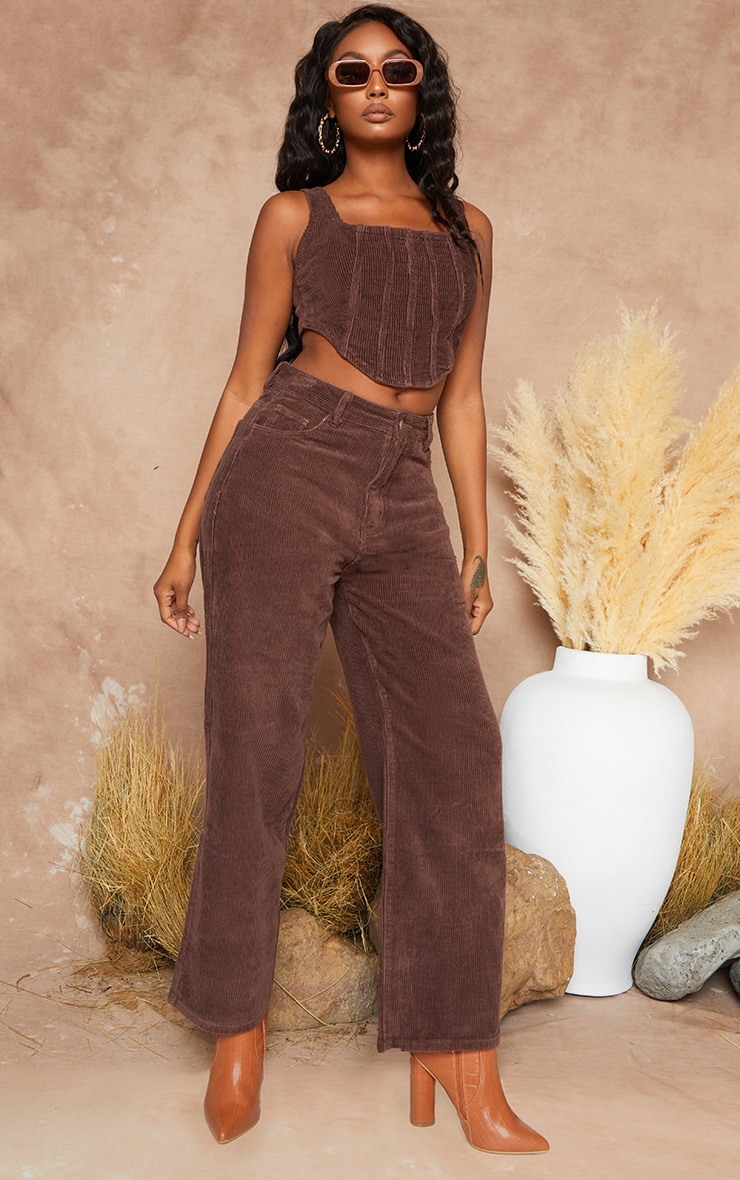 Chocolate Cord Baggy Boyfriend Jeans 2