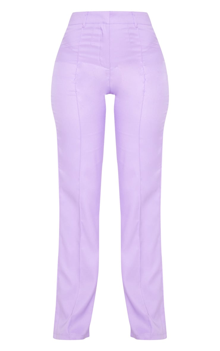 Anala Lilac High Waisted Straight Leg Trousers 3
