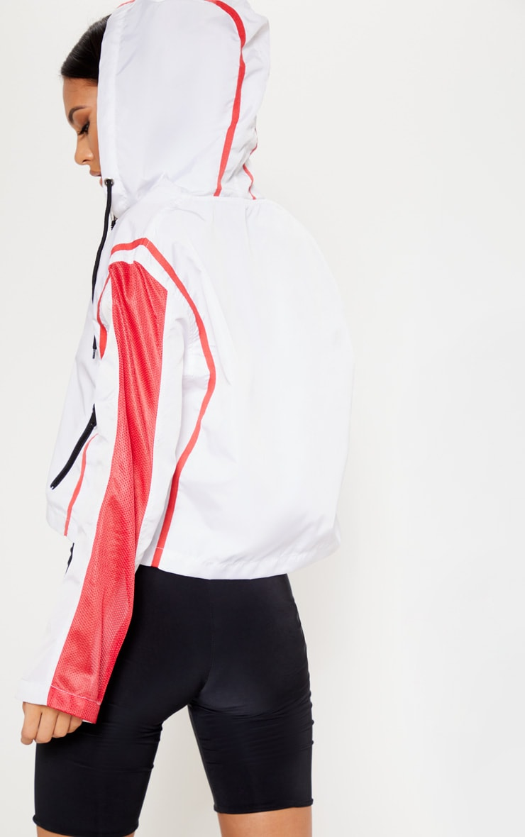 White Pocket Detail Wind Breaker  2