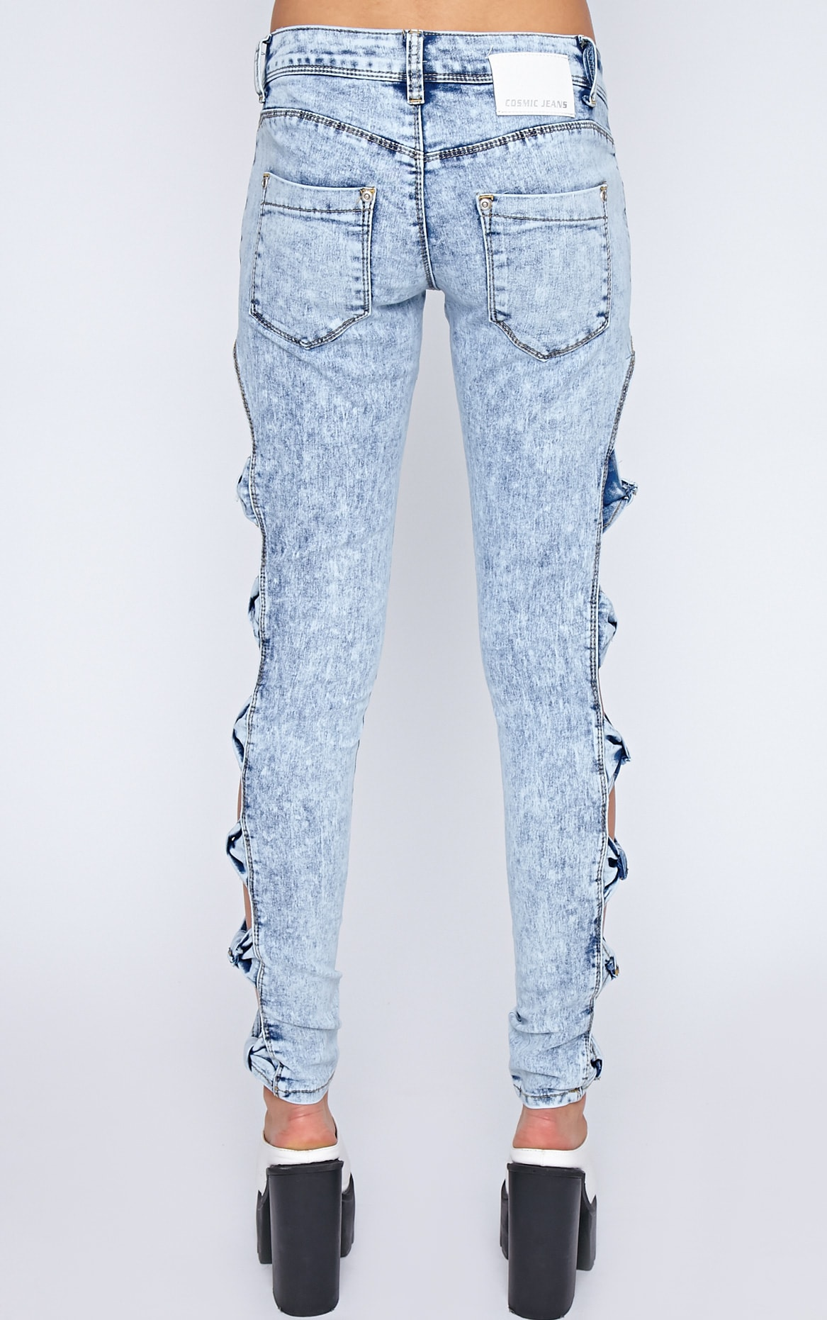 Aoife Light Wash Bow Cut Out Jeans  2