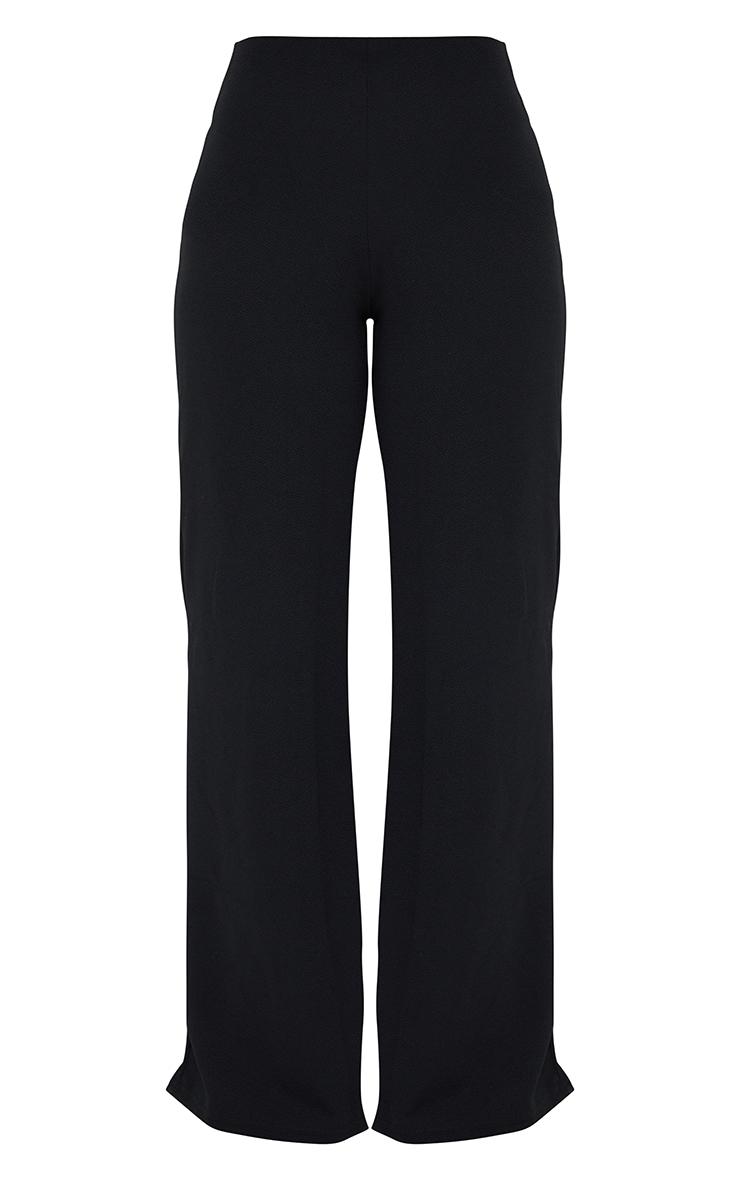 Petite Black Wide Leg Trousers 5