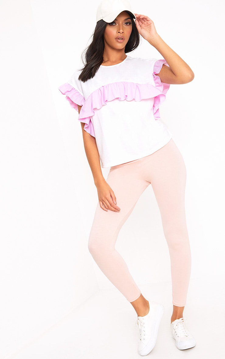 White Shirt Frill Detail T Shirt 4
