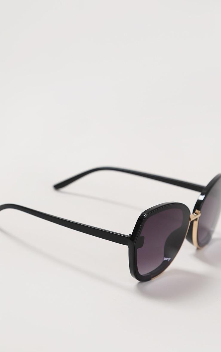 Black Fade Oversized Round Sunglasses 3