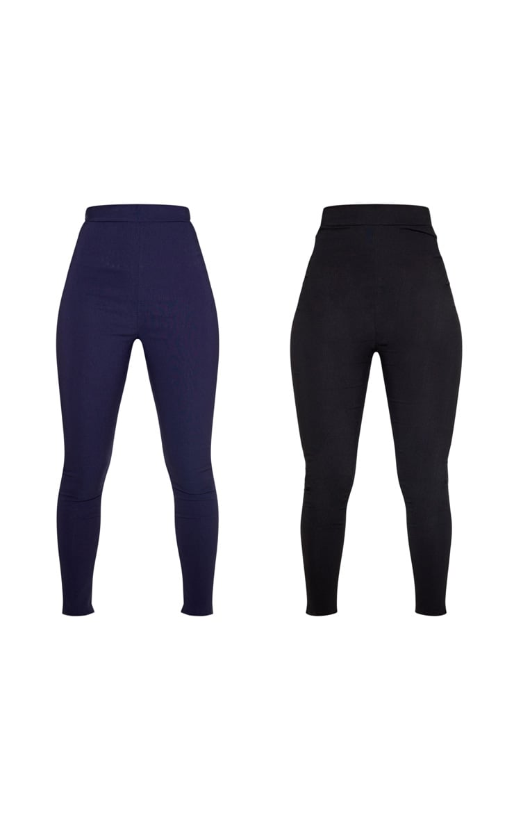 Black & Navy Basic Jegging 2 Pack 3