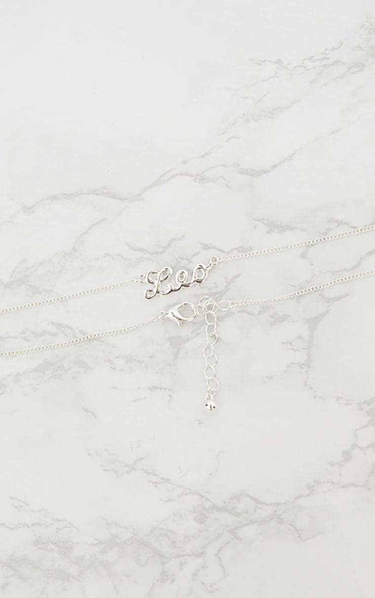 Leo Zodiac Silver Necklace 2