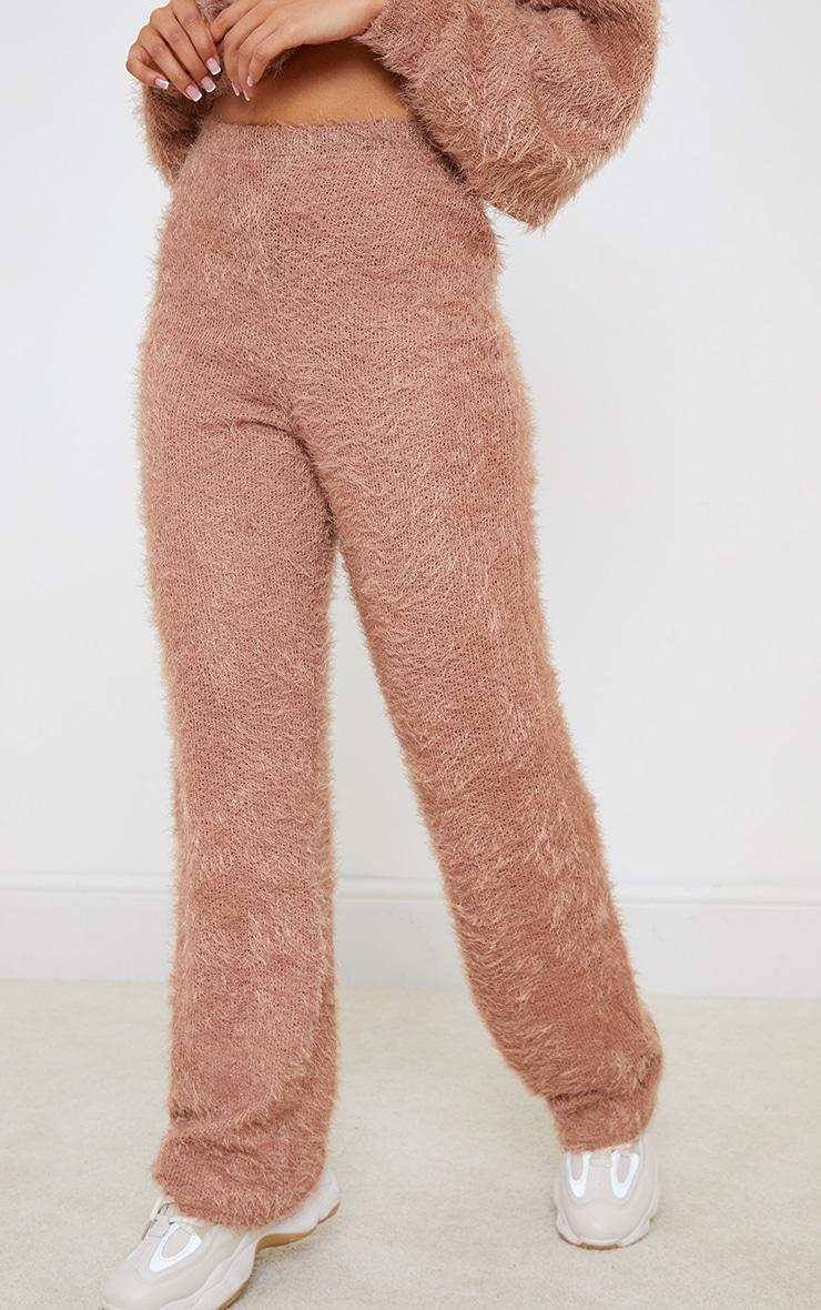 Petite Stone Eyelash Wide Leg Trouser 2