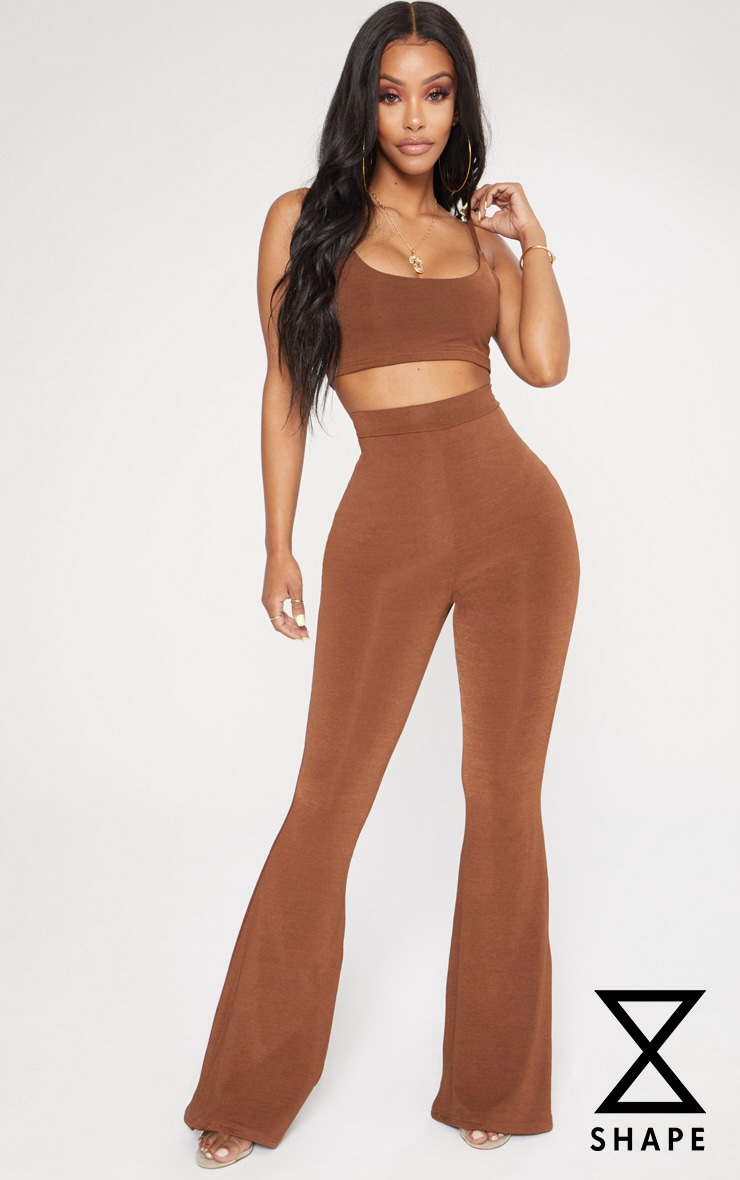 Shape Chocolate Flared Trousers