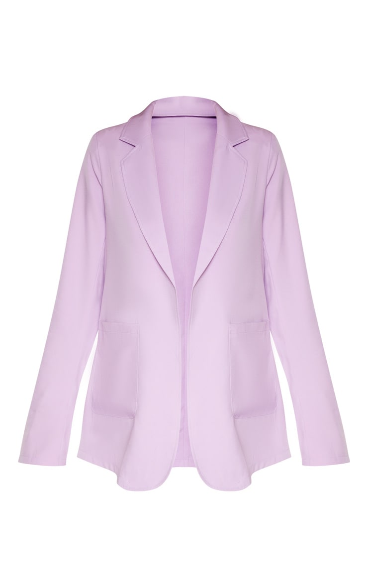 Tall Lilac Fitted Blazer  3