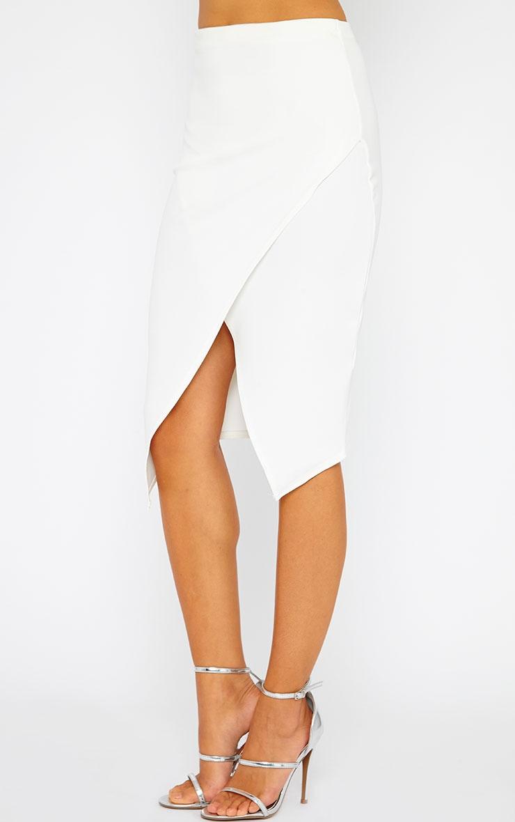 Lia Cream Wrap Midi Skirt 3