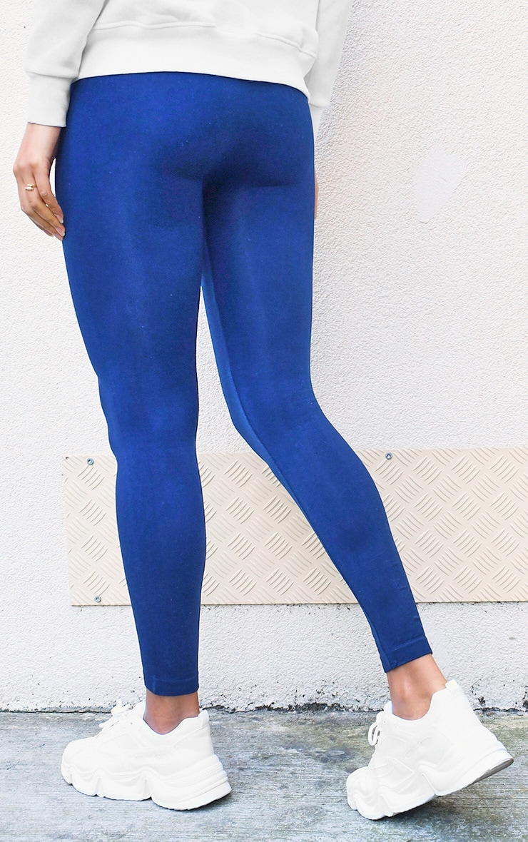 Navy Seamless Leggings 3