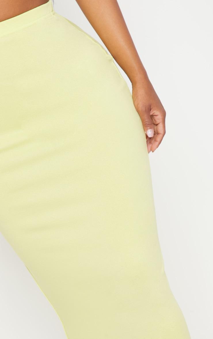 Shape Chartreuse Midaxi Skirt 5