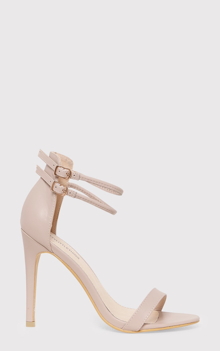 Karrie Nude Double Ankle Strap Heels 1