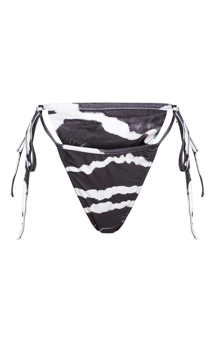 Black Tie Dye Tie Side Bikini Bottom 5