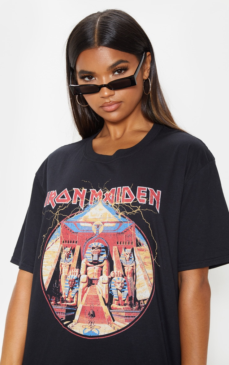 Black Iron Maiden Powerslave Print T Shirt 5