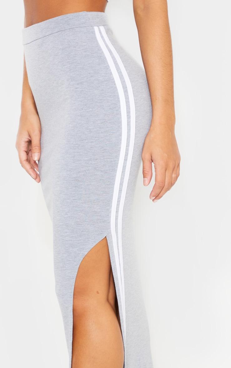 Grey Double Side Stripe Midaxi Skirt 5
