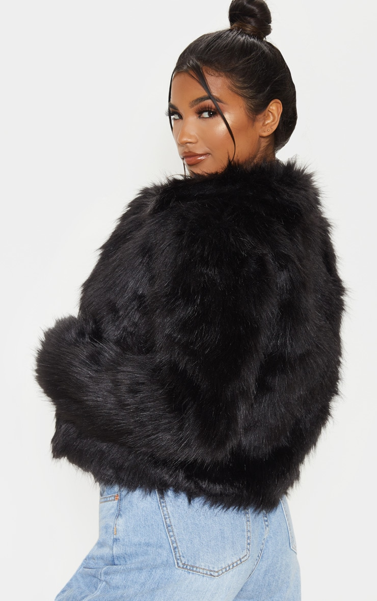 Black Faux Fur Jacket 2