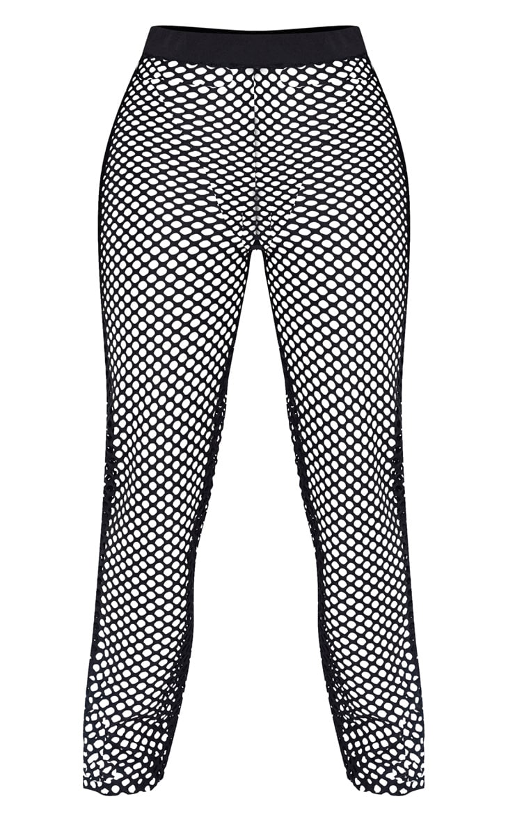 Shape Black Fishnet Wide Leg Pants 3