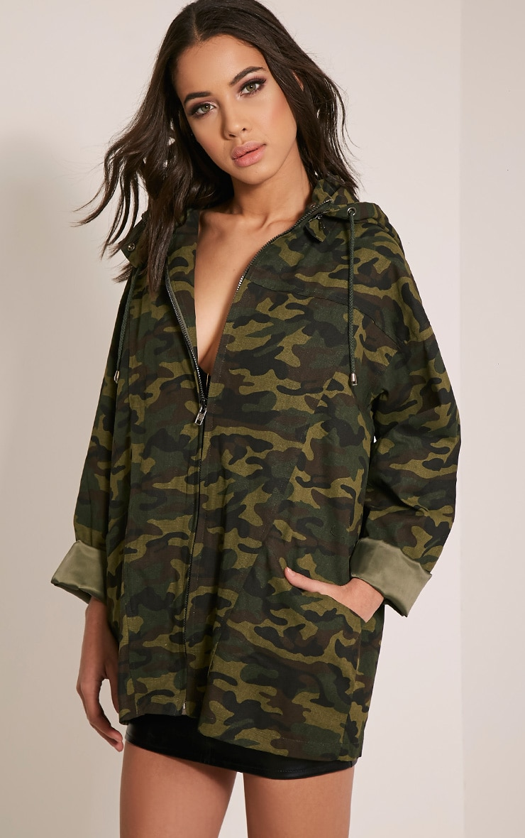 Jaynor Green Camouflage Parka Jacket 4