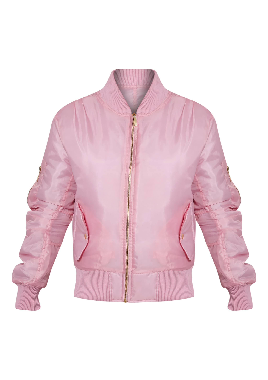 Alexus Pink Bomber Jacket 3