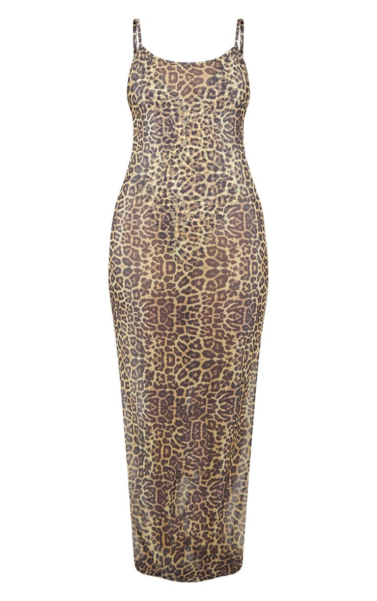 Leopard Mesh Maxi Beach Dress 3