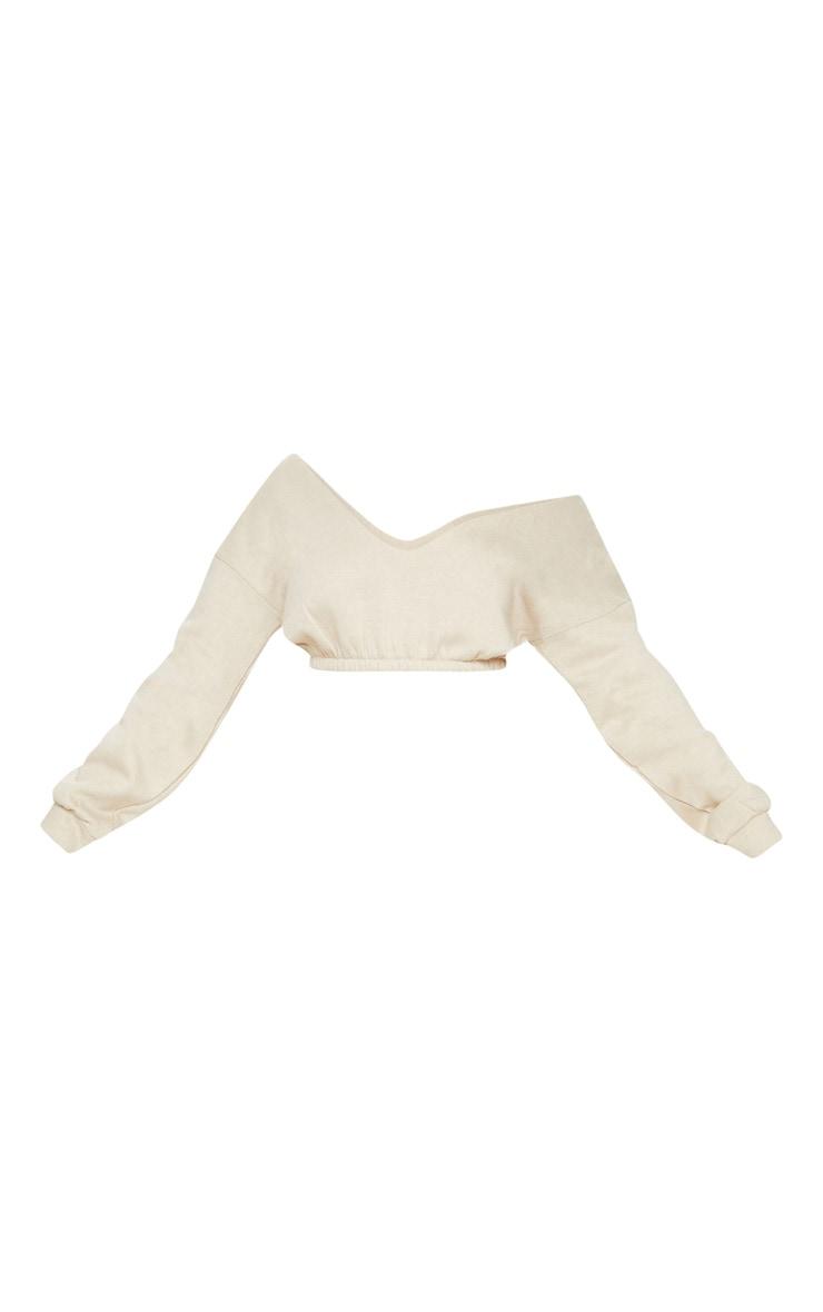Sand Crop Off Shoulder Sweater  3