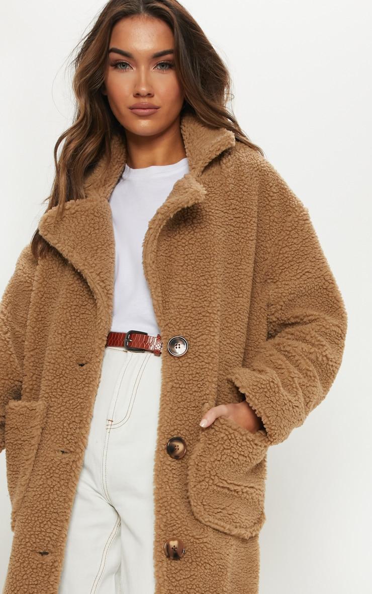 Camel Maxi Borg Coat 4