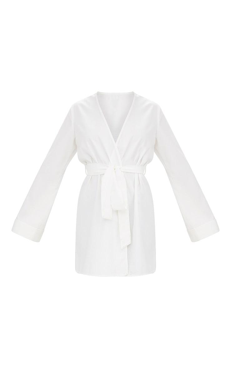 White Oversized Longline Blazer 3