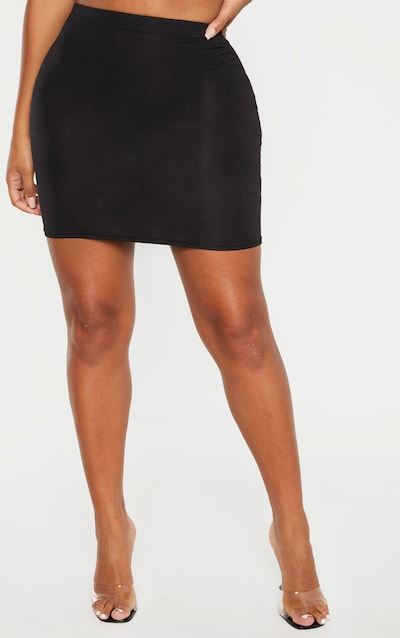 Shape Black Jersey Bodycon Skirt