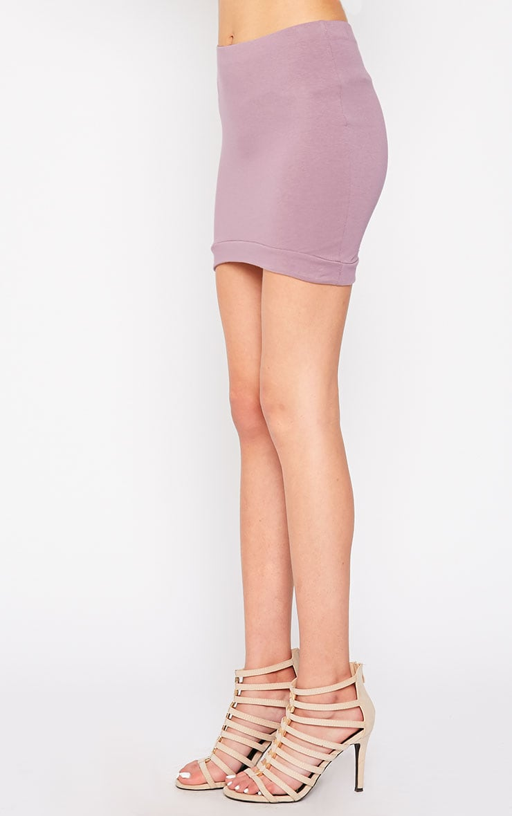 Phoenix Mauve Curved Hem Mini Skirt 3