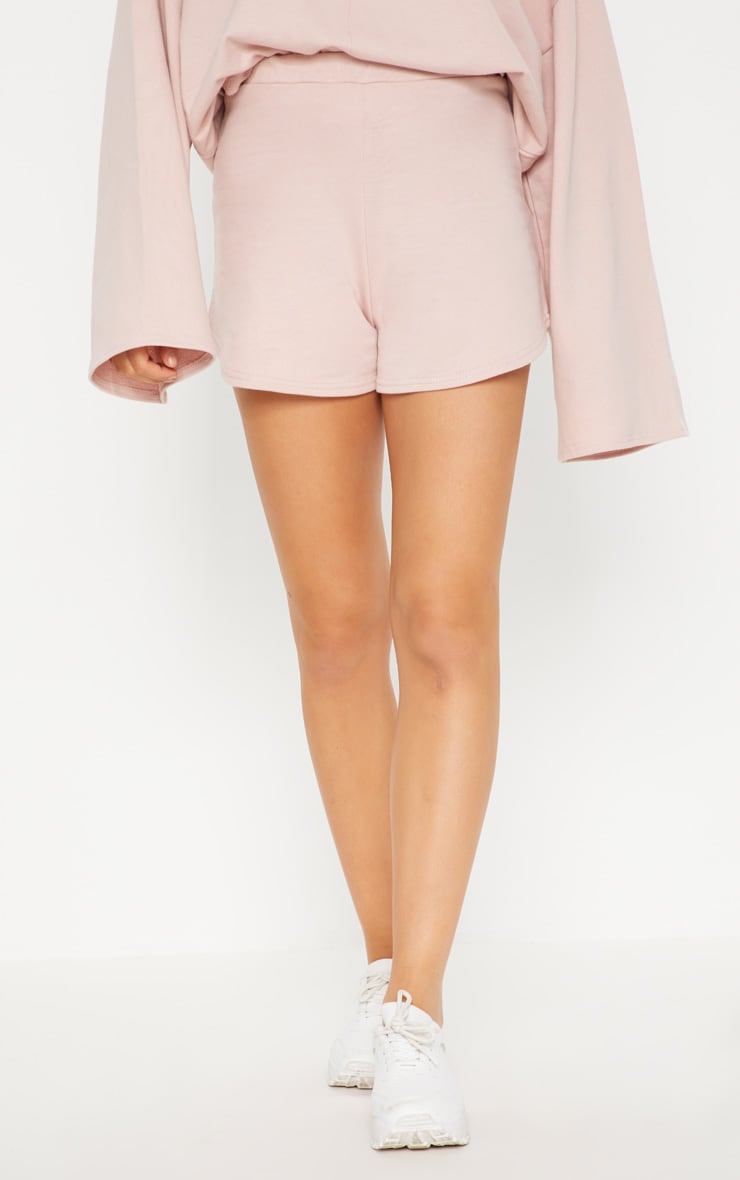 PASTEL PINK SWEATER SHORTS
