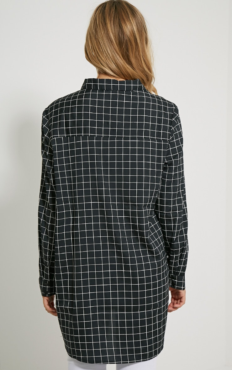 Flora Black Check Shirt 2