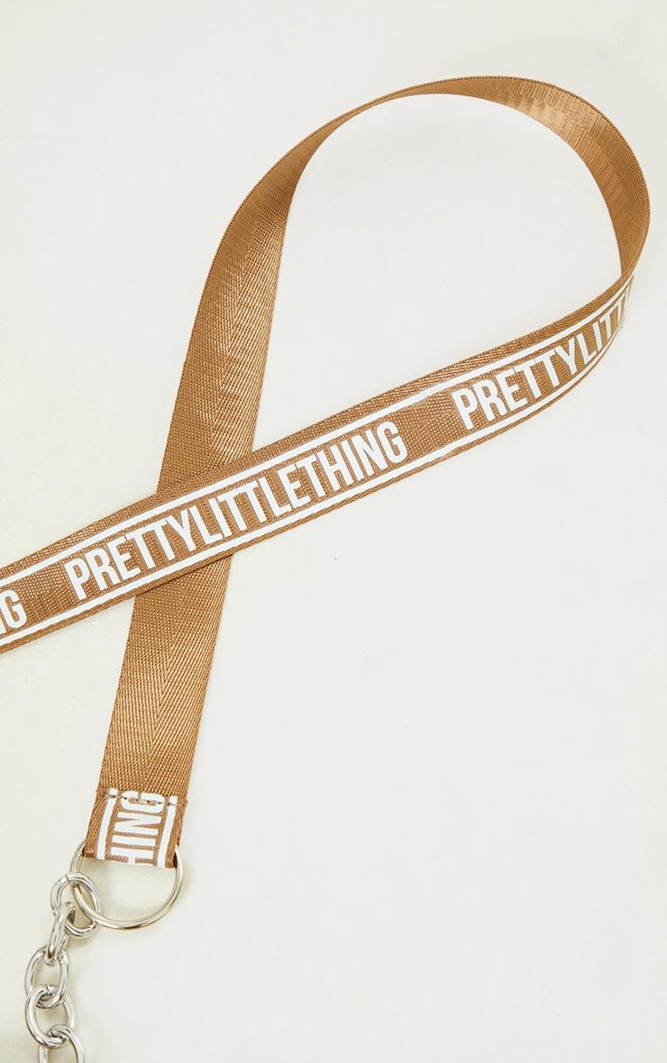 PRETTYLITTLETHING Mocha Multi Pocket Chain Cross Body Bag 4