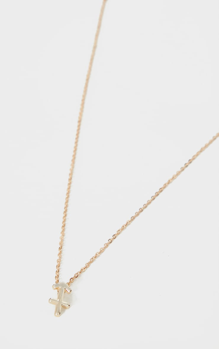 Gold Sagittarius Star Sign Necklace 4