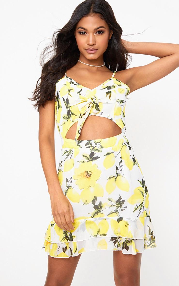 Lemon Printed Bodycon Dress 1