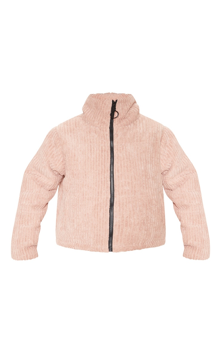 Rose Ribbed Textured Oversized Puffer 3