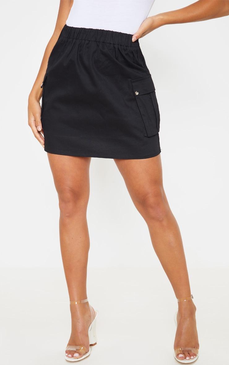Petite Black Cargo Pocket Skirt 2