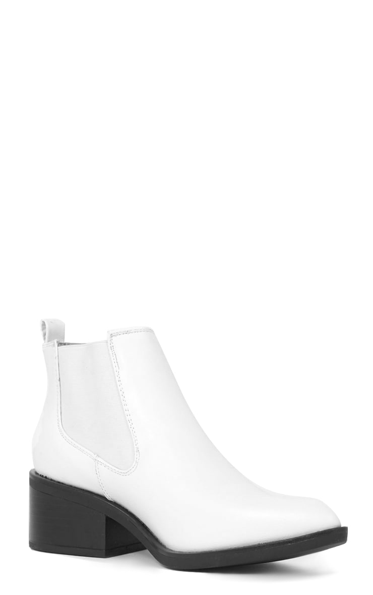 Kimi White Pointed Chelsea Boot   4