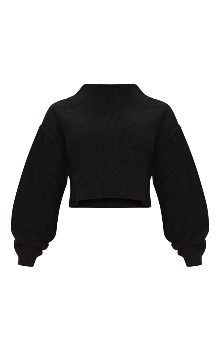 Petite Black Cropped Sweater 3