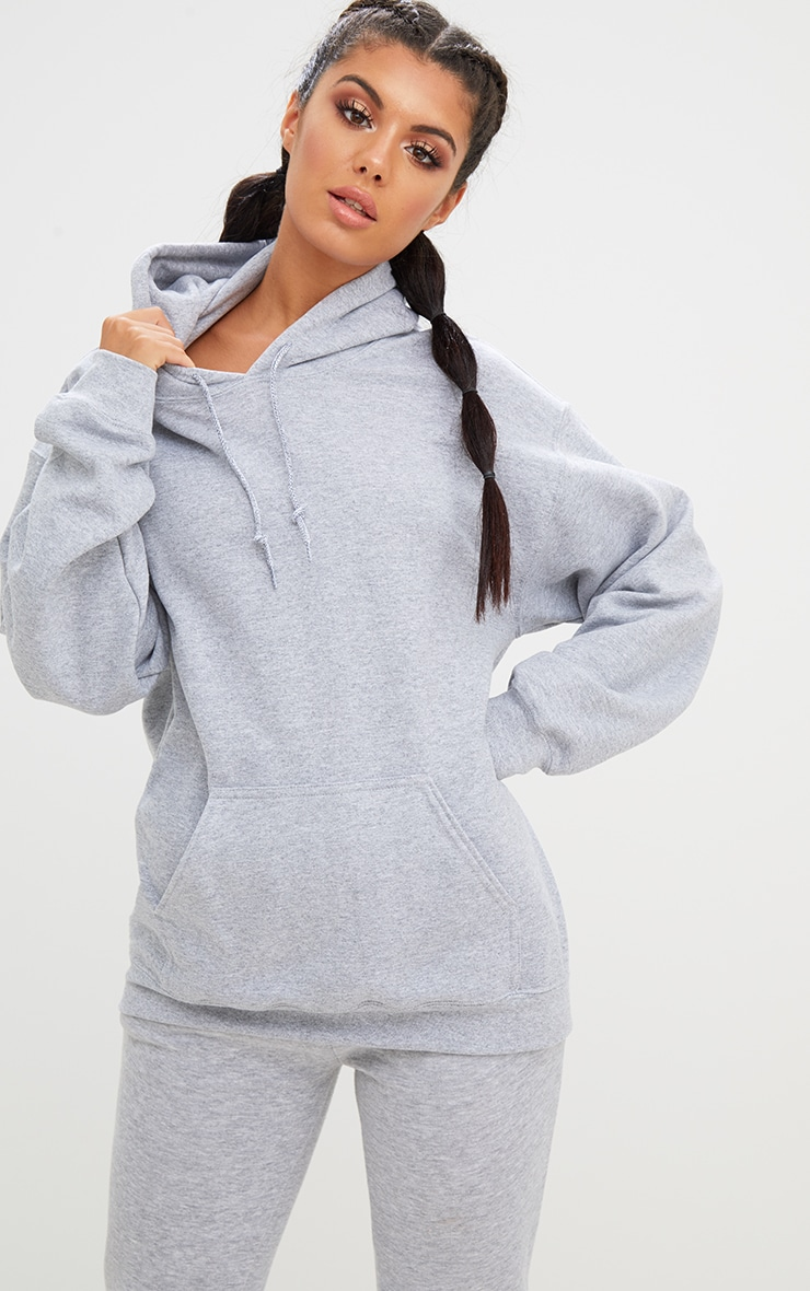 Grey Marl Ultimate Oversized Hoodie