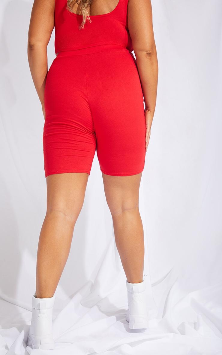 Plus Red USA Printed Bike Shorts 3