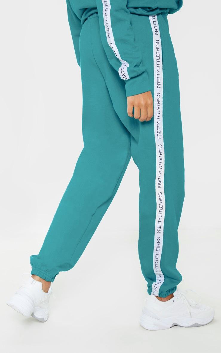 Jogging bleu sarcelle à bande contrastante PRETTYLITTLETHING 4